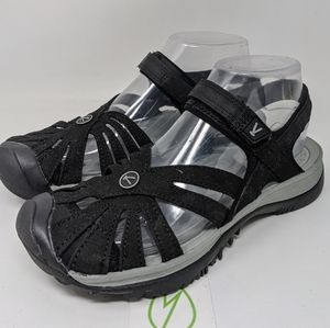 KEEN Women's Rose Sandal SIZE 7 BLACK 1008783.
